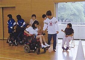 電動車椅子の体験です